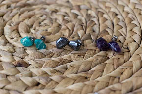 Gemstone Stud Earrings | The Terra Collection