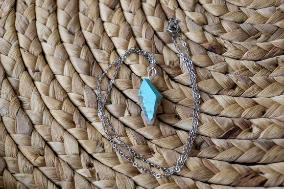 Turquoise Charm Necklace | Natural Jewelry