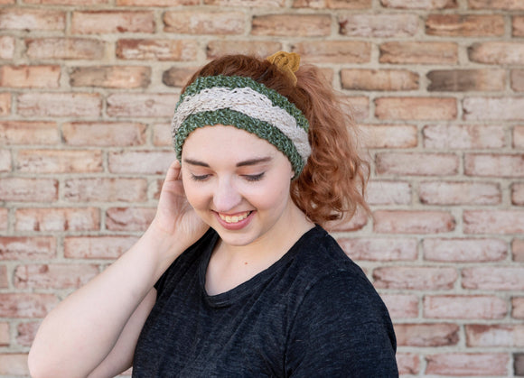Women's Knit Ear Warmer, Cable Knit Ear Warmer