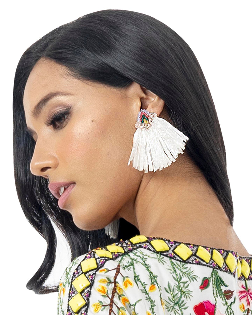Madagascar White Earring