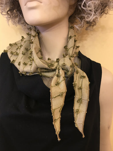 SCARF - RAW SILK