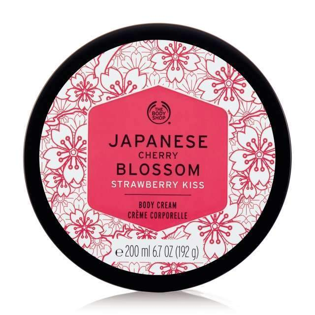 Japanese Cherry Blossom Strawberry Kiss Body Cream