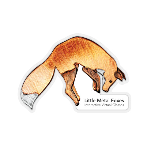 LMF Copper Jumping Fox Stickers