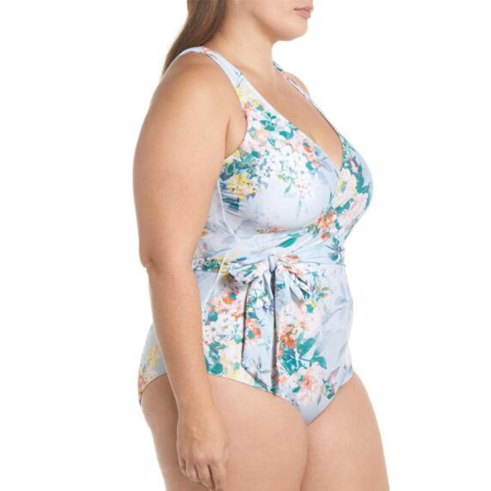 Blossoming Wave One Piece Swimsuit