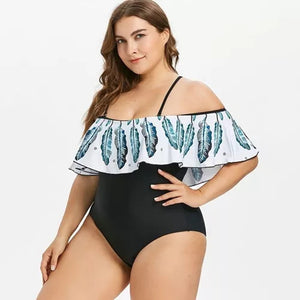 Feather Nether One Piece Swimsuit