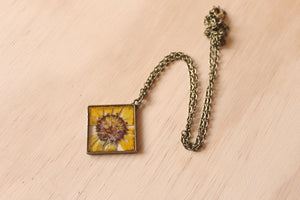Diamond Gaillardia Necklace
