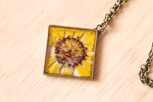 Load image into Gallery viewer, Diamond Gaillardia Necklace