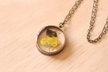 Load image into Gallery viewer, Preserved Honey Bee + Buttercup Necklace