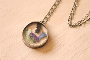 Honey Bee + Alyssum/Blue Bell Necklace