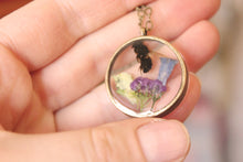 Load image into Gallery viewer, Honey Bee + Alyssum/Blue Bell Necklace