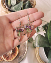 Load image into Gallery viewer, Real Preserved Alyssum Earrings