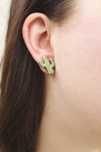 Load image into Gallery viewer, Flowering Cactus Stud Earrings