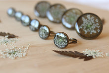 Load image into Gallery viewer, Large Queen Anne's Lace Antique Brass Ring