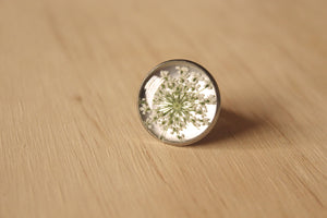 Silver Queen Anne's Lace Ring