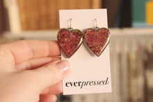 Load image into Gallery viewer, Earrings: Rose Petal Hearts