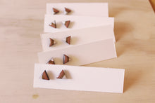Load image into Gallery viewer, Geometric Triangle Stud Earrings