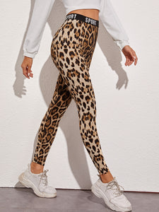 SHEIN Sport Graphic Leopard Print Leggings