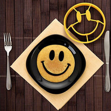 Load image into Gallery viewer, Silicone Egg Rings Pancake Mold Smiley Face