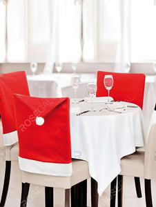 Colorblock Spliced Christmas Chair Cover