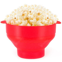Load image into Gallery viewer, Microwaveable Silicone Popcorn Maker Bowl