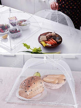 Load image into Gallery viewer, Folding Square Washable Picnic Mesh Food Cover