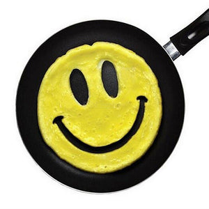 Silicone Egg Rings Pancake Mold Smiley Face