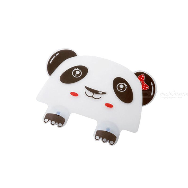 Cute Panda Suction Cup Water Splash Waterproof Baffle Screen Washbasin Stand