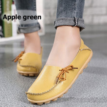 Load image into Gallery viewer, Women's Genuine Leather Flat Shoes