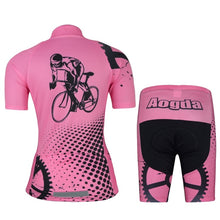 Load image into Gallery viewer, Summer Women Cycling Jersey Short Sleeve and Shorts Set
