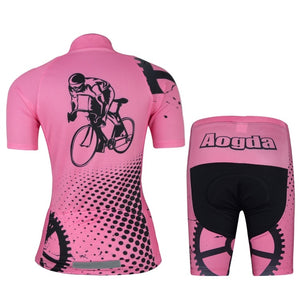 Summer Women Cycling Jersey Short Sleeve and Shorts Set