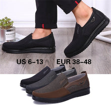 Load image into Gallery viewer, Men Cloth Loafers Flat Slip On