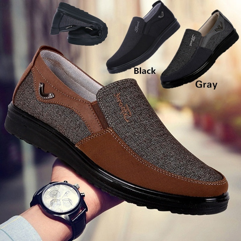 Men Cloth Loafers Flat Slip On
