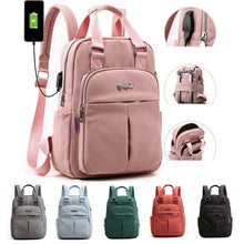 Load image into Gallery viewer, USB Backpack Anti Theft Laptop Bags With Side Charging Port