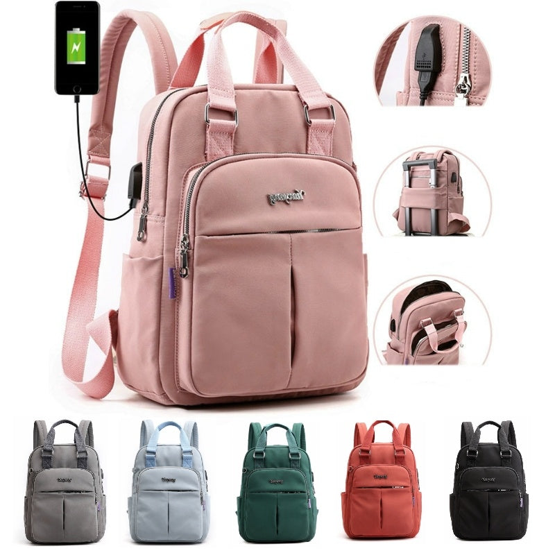 USB Backpack Anti Theft Laptop Bags With Side Charging Port