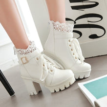 Load image into Gallery viewer, Women's Thick High Heel Ankle Boots
