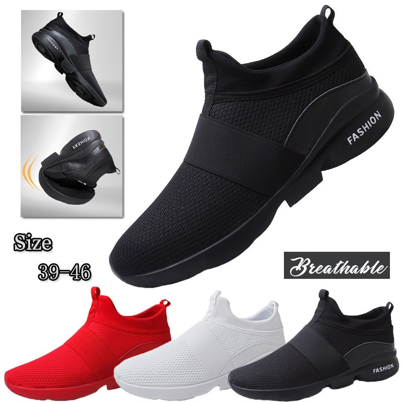 men athletic walking shoes mesh breathable