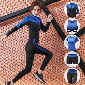 5 pcs set Women's Sportswear Solid Yoga Sport Suit S-XXL