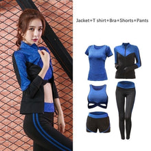 Load image into Gallery viewer, 5 pcs set Women's Sportswear Solid Yoga Sport Suit S-XXL