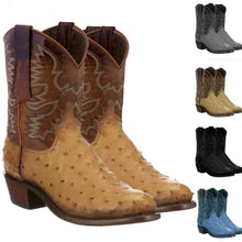 Load image into Gallery viewer, 2020 New Men's Traditional Full Quill Ostrich Western Style Boot