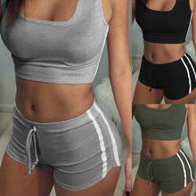 Load image into Gallery viewer, 2Pcs Women Yoga Suit  Padded Bra Tops+Shorts