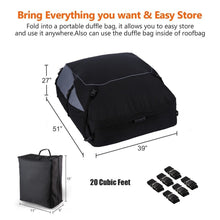 Load image into Gallery viewer, Car Vehicles Waterproof Roof Top Cargo Carrier Luggage Travel Storage Bag