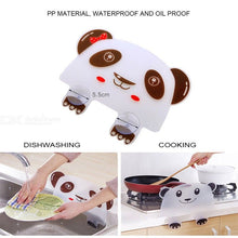 Load image into Gallery viewer, Cute Panda Suction Cup Water Splash Waterproof Baffle Screen Washbasin Stand