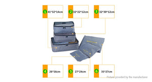 Waterproof Travel Clothes Storage Bag Cube (6 Pieces)