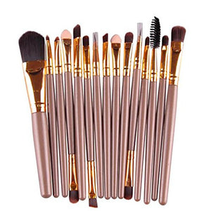 brush, 15 pcs eye shadow eyebrow lip brush