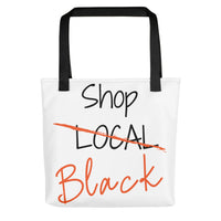 """Shop Black"" Tote bag (White)"