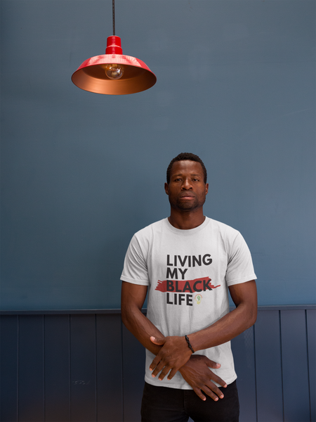 """Living My Black Life"" Short-Sleeve Unisex T-Shirt (White)"
