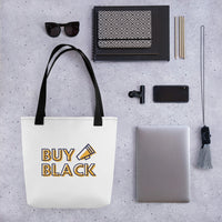 """Buy Black"" Tote bag"