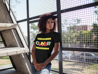 """Black Business Owner"" Ladies' Scoopneck T-Shirt (Black)"