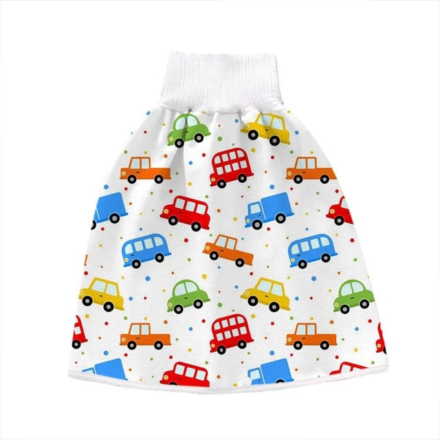 #45 0 8y Baby Diaper Skirt Waterproof Cotton Training Pants Cloth Colorful Animal Dinosaur Print Diaper Skirt Sleeping Bed Pad|Cloth Diaper|