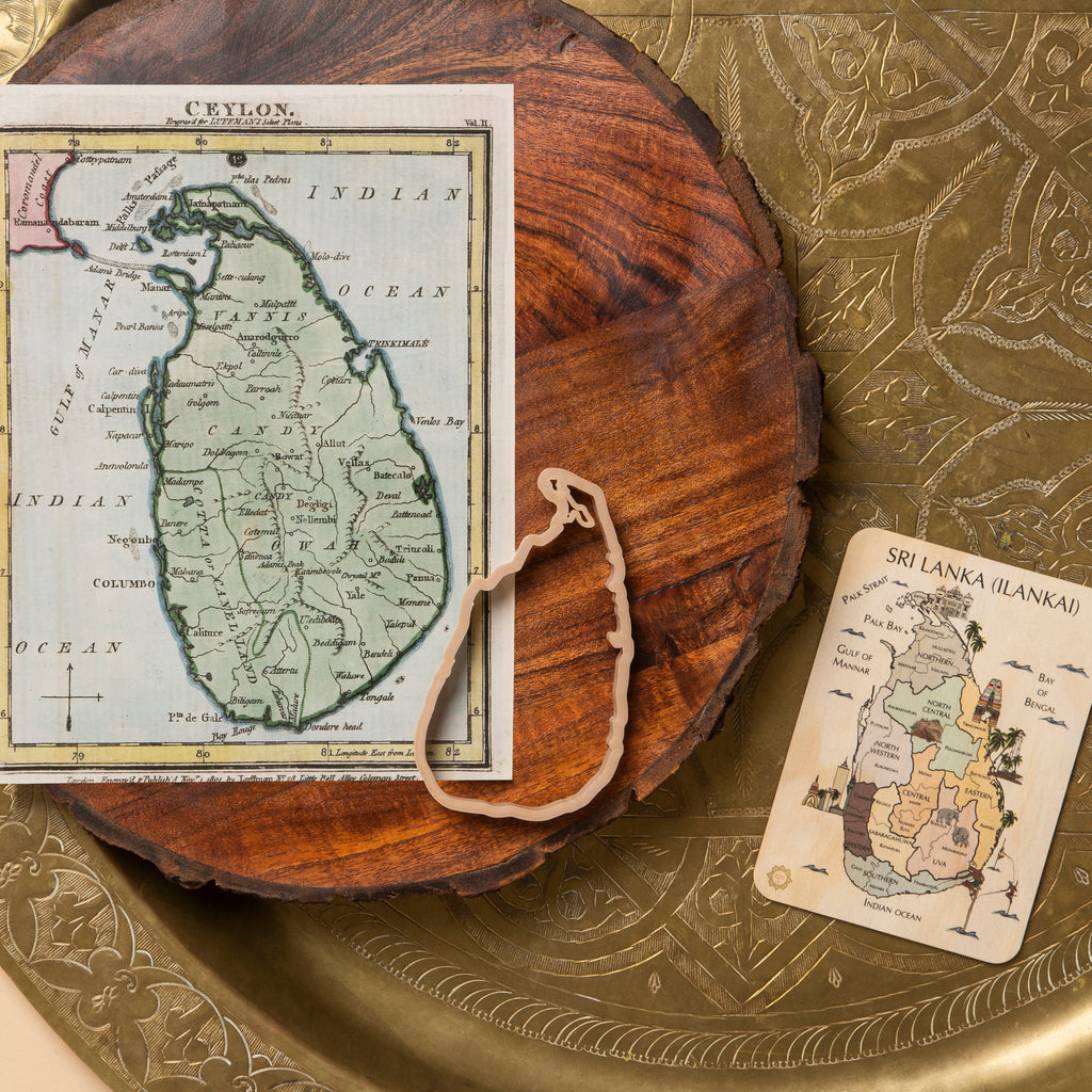 Sri Lanka (Ilankai, Eelam) Country Sensory Pack - Eco Cutter™, Timber Tile, And Colour In Card